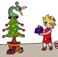 Link and Ezlo .:Christmas:. by LedahTheSolitary