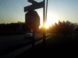 Sunrise Stop Sign by photo-baka95