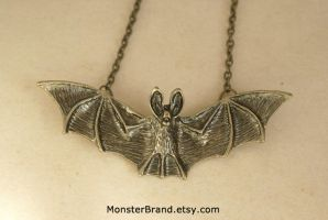 Vampire Bat Necklace by foowahu-etsy