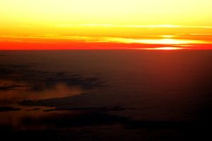 Sunset from above by julietonnesen