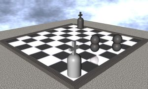 c4d chess-board by tomphy