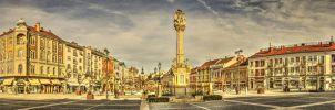 Szombathely Main Square HDR by Khanzen