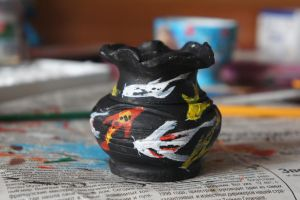 Japan Koi Fish on Clay Pot by aydanhasanova