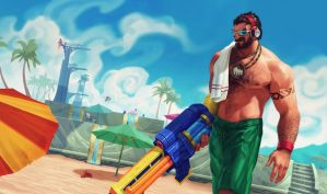 Pool Party Graves by WarrioroftheSoul