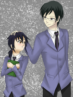 Request - Kyoya Ootori and Sekai by Inra98