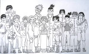Naruto Group Lineart by Yashas-Begins
