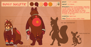 Budgy Sucliffe Ref Sheet by MahoHaku
