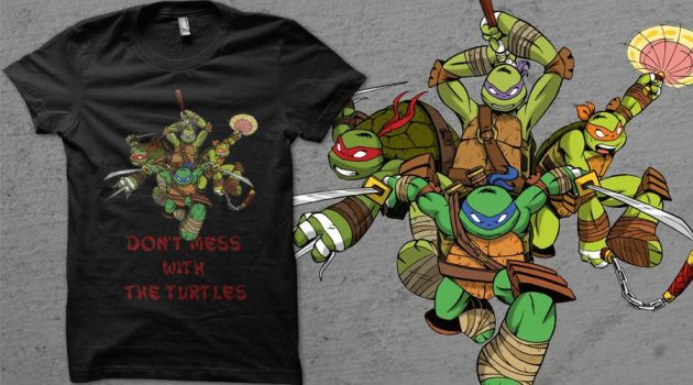 TMNT 2012  T-shirt by giulal
