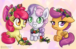 Cutie Mark Crusaders: Flower Crowns by LinksLove