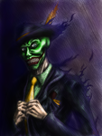 AND WHAT IF THE JOKER STOLE THE MASK?! by triguera