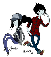 Marceline and Marshall Lee by Boredom-xD