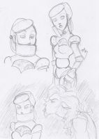 Ozian Sketches - Tin and Lion by Tell-Me-Lies