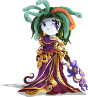 Chibi Medusa by Lady-of-Link