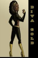 AWF Diva Gold for Silverbolt by ebony-chan