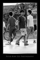 boys at the basketball court by petercui