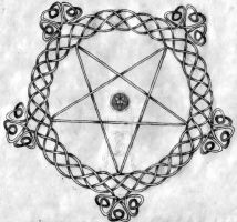 Knotted Pentagram by lord666belial