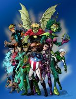New Young Avengers by TheCreationist