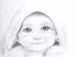Baby Sketch 2 by anjelleshadow