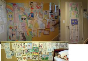 Some of the walls of my rooms by 17cherry