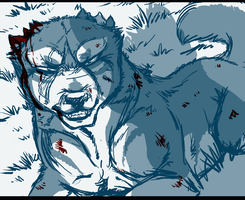No Brother of Mine SKETCH by KasaraWolf