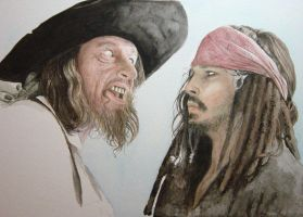 Captain Barbossa + Jack WIP2 by ktalbot