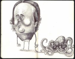 Sketchbook - One man and his octopus by keiross