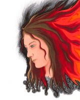 Fire in Her Hair by Mer-Kay-Zim-Gel