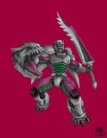 Indominus-Rex and TFBW Megatron Crossover by k-hots