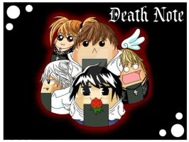Death Note Onigiri Wallpaper by Kawaiidelicious-club