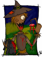 Toto meets Scarecrow by nickowolf
