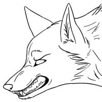 Angry Wolf Lineart by Hyperactive-Blue