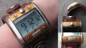 Steampunk Digital WIFI Watch by PunkTrunk