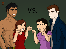 Sibling Rivalry by Jace-Mereel