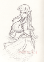 Zelda sketch by gts