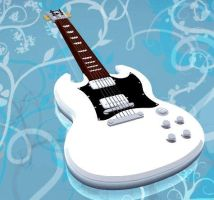 Gibson SG in white by arhumn