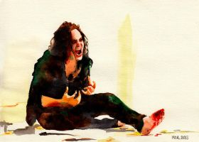 Loki in mourning by ihni