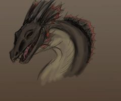 Dragon Sketch by AwesomePonyTail