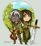 ChibiComm: Eyvind and Cole by Noiry
