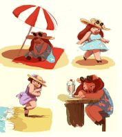 Beach Day by It-is-a-circle