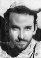 Bradley Cooper portrait HQ by th3blackhalo