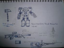 N.E.V.A.S. BATTLE ARMOUR SUIT by victortky