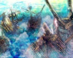 Ship Wreck Illustration by Anagram-Daine