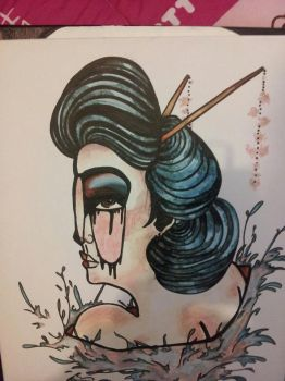 geisha girl by LividAnimosity