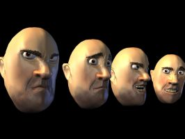 Human Head Expressions by Rost-kogmain
