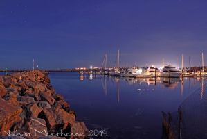 Cold Marina Blues by N-ScapePhotography