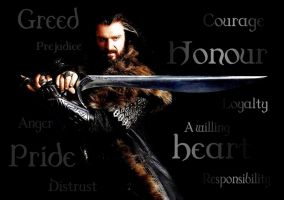 MME #10: Thorin Oakenshield: Dark Side/Bright Side by PeckishOwl