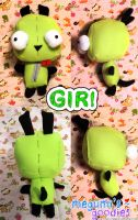 Invader Zim Gir Plush TWO by Haru-Megumi