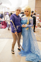 Jack Frost and Elsa by BowtieZombie