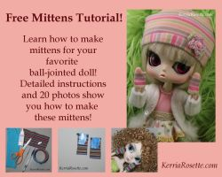 FREE Doll Mittens Pattern by KerriaRosette
