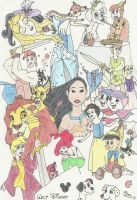 Disney Montage Drawing by evilfuzzle2